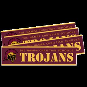 20-21 Bumper Stickers Nampa Christian Trojan Pro Shop