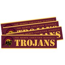20-21 Bumper Stickers Nampa Christian Trojan Pro Shop HP
