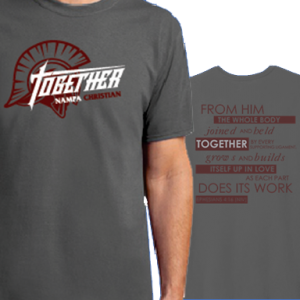 20-21 Together Theme Men's T-Shirts Nampa Christian Trojan Pro Shop HP