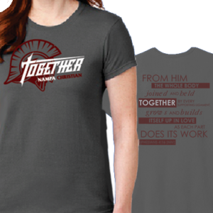 20-21 Together Theme Women's T-Shirts Nampa Christian Trojan Pro Shop HP