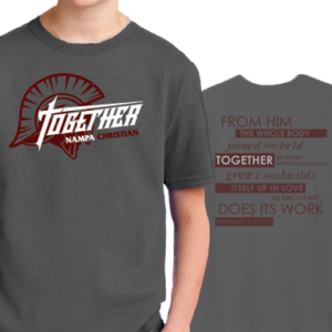 20-21 Together Theme Youth T-Shirts Nampa Christian Trojan Pro Shop HP