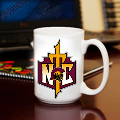 Coffee Mugs 15oz Cross Logo Nampa Christian Pro Shop