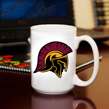 Coffee Mugs 15oz Troajn Head Logo Nampa Christian Pro Shop