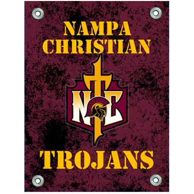 Banners Trojan Cross Logo Nampa Christian Trojans