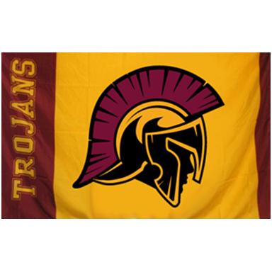 Flags Trojan Head Logo Nampa Christian Trojans