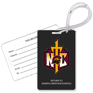 Trojans Gear Tags Cross Logo Nampa Christian Trojans