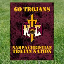 Yard Signs NC Logo Nampa Christian Trojans HP